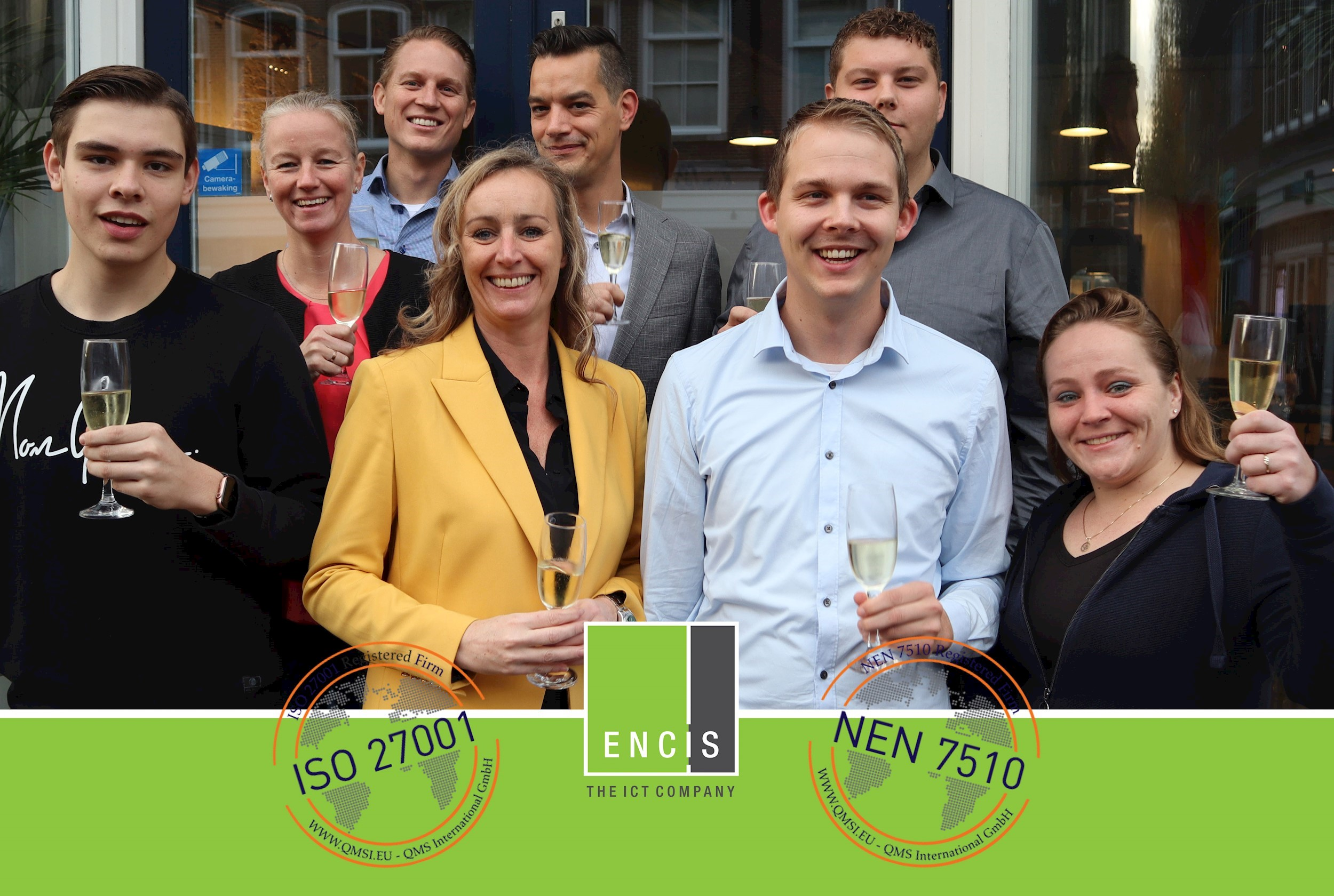Encis is ISO 27001 en NEN 7510 gecertificeerd!