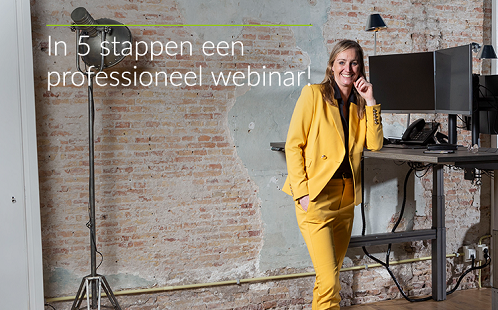 Gratis training: In 5 stappen een professioneel webinar
